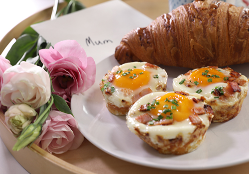 Mother's Day Hash Brown Egg Nests Recipe
